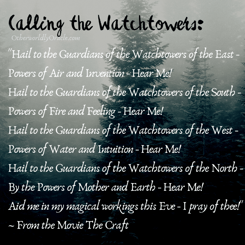 The Craft's Calling the Watchtowers