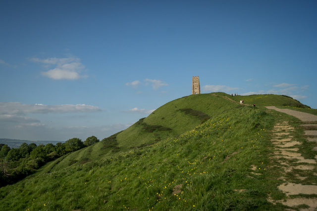 Glastonbury Tor is where the Isle of Avalon was once.