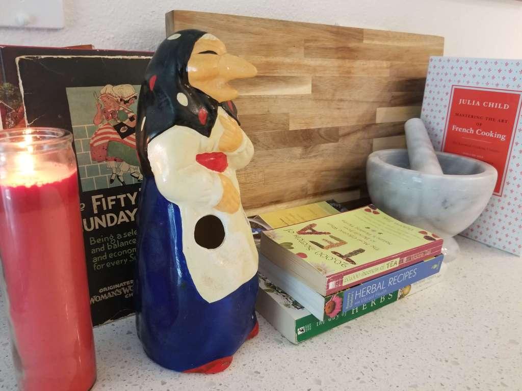 Kitchen witches often have kitchen altars