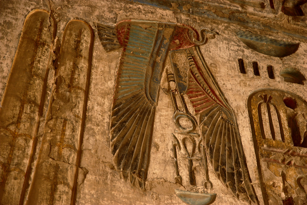 Nekhbet was a bird goddess of ancient Egypt.