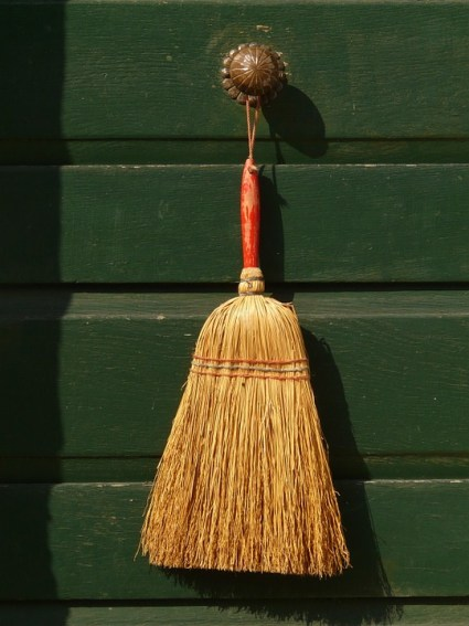Cleanse your kitchen with a besom.