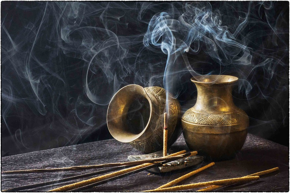 Incense and smoke are both purifying cleansing tools.