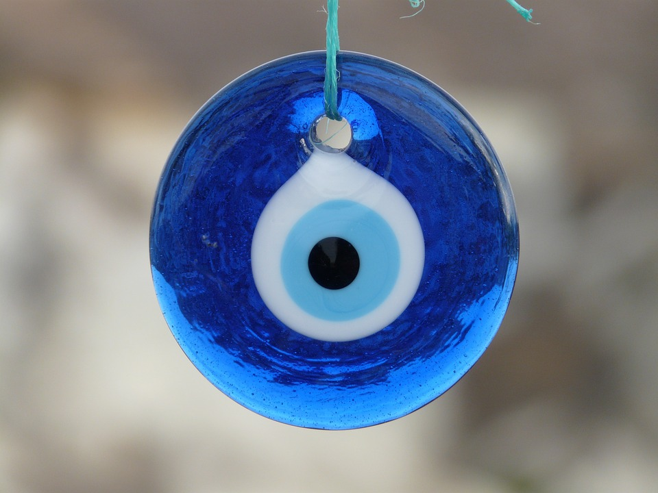 An amulet like the nazar wards off the evil eye.