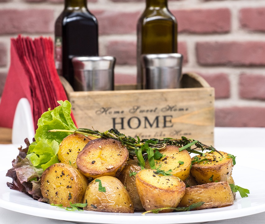 Roasted garlic potatoes are a staple mabon recipe in my house