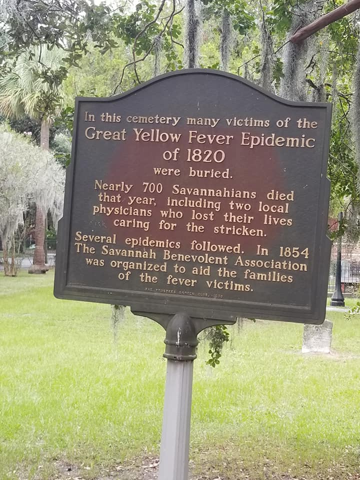 Yellow fever epidemics no doubt added to the restless souls of Savannah, GA.