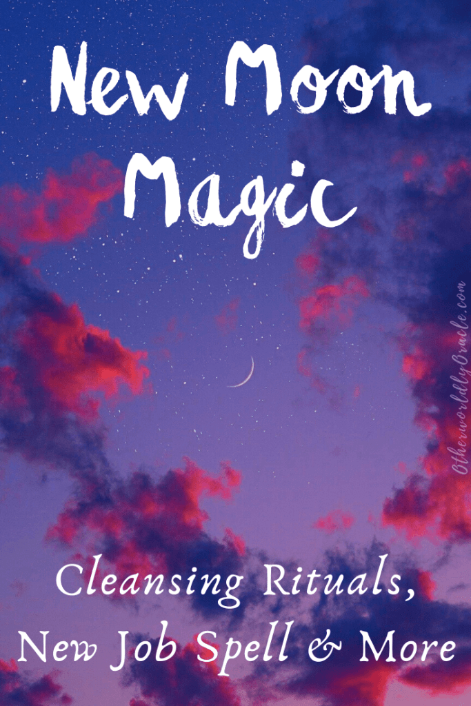New Moon Magic: Cleansing Bath Rituals, New Job Candle Spell and More Ideas!