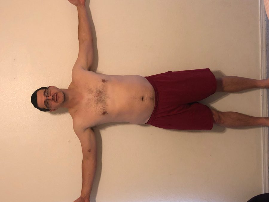Before picture, front view. Taken 1 year before getting in the best shape of my life