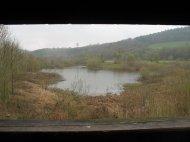 Ein Naturschutzgebiet an der Fulda, gesehen von einem Hochstand aus