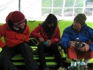 Gemeinsames chillen im Camp.