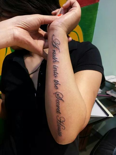 Fore Arm Tattoo Quotes : tattoo, quotes, Tattoo, Words, Forearm, Design