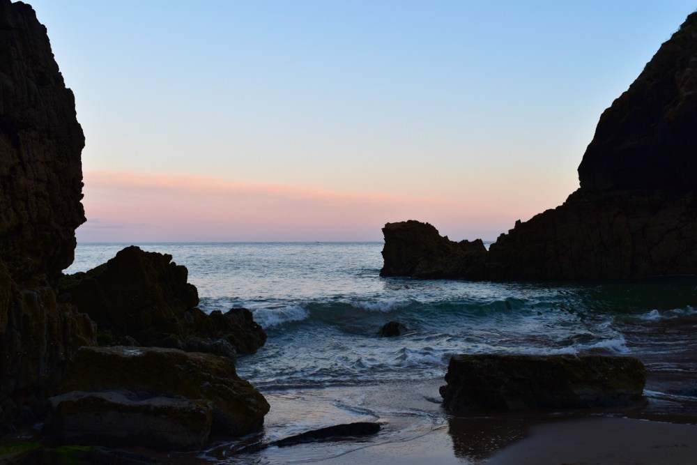 sunsets at church doors cove in Pembrokeshire