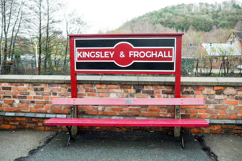 Kingsley and Froghall station for the Churnet Valley Railway Santa and Steam Review