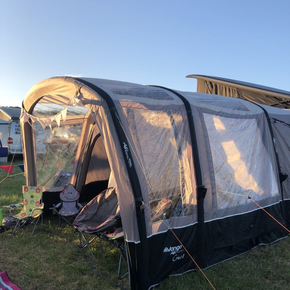 Camper van life at Timber Festival