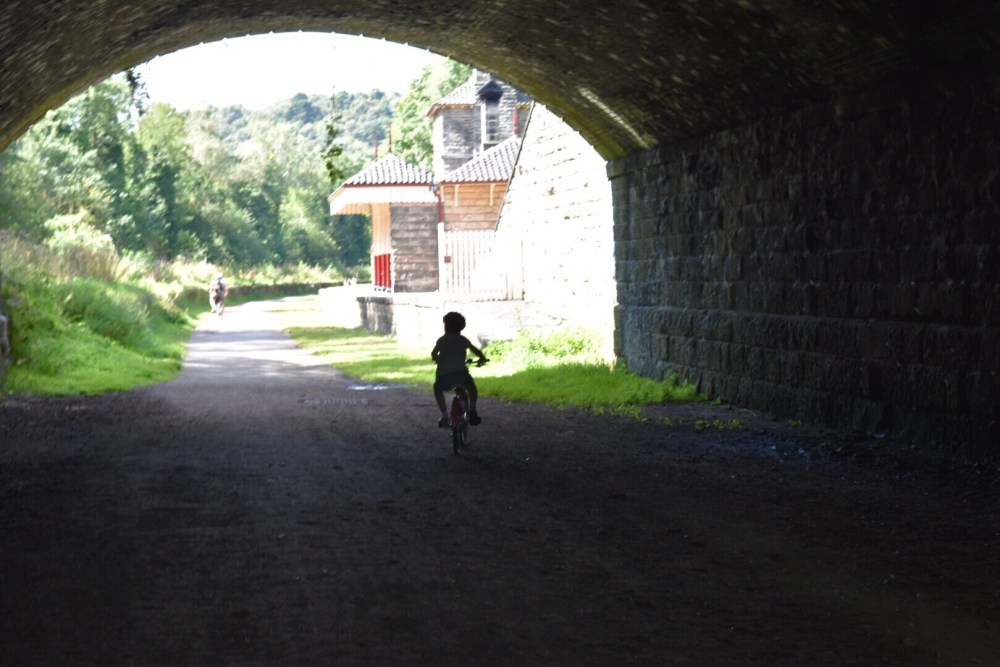 Cycling around Churnet valley for a free thing to do with kids in Staffordshire