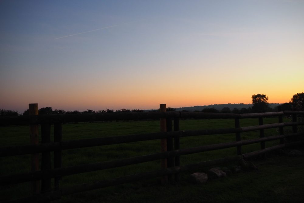 a Sunset during review stay at Ashbourne Heights holiday park