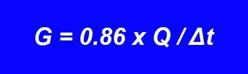 Шланг еденіндегі суды тұтынуды есептеу - формула