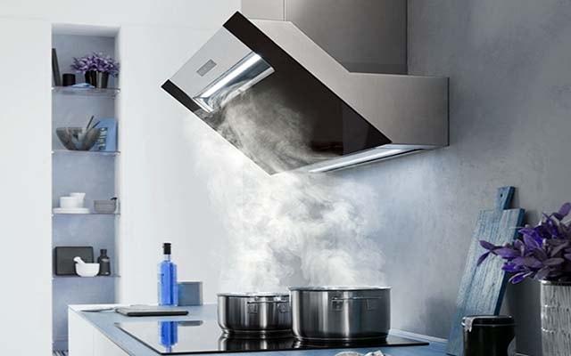 Contaminación del aire en la cocina.