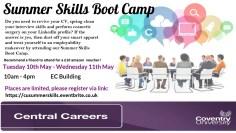 Summer Skills Boot camp Flyer