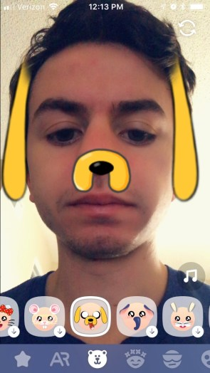 How to Get The Dog Face Filter on Boo!