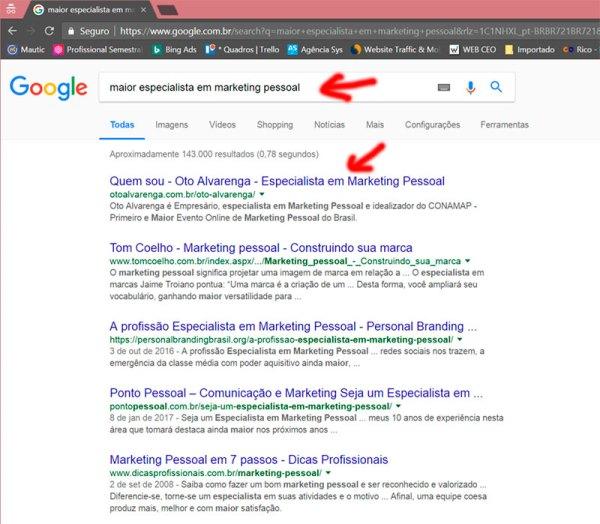Maior Especialista em Marketing Pessoal - Oto Alvarenga