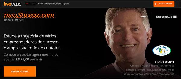 página inicial MeuSucesso - Flávio Augusto Wise UP
