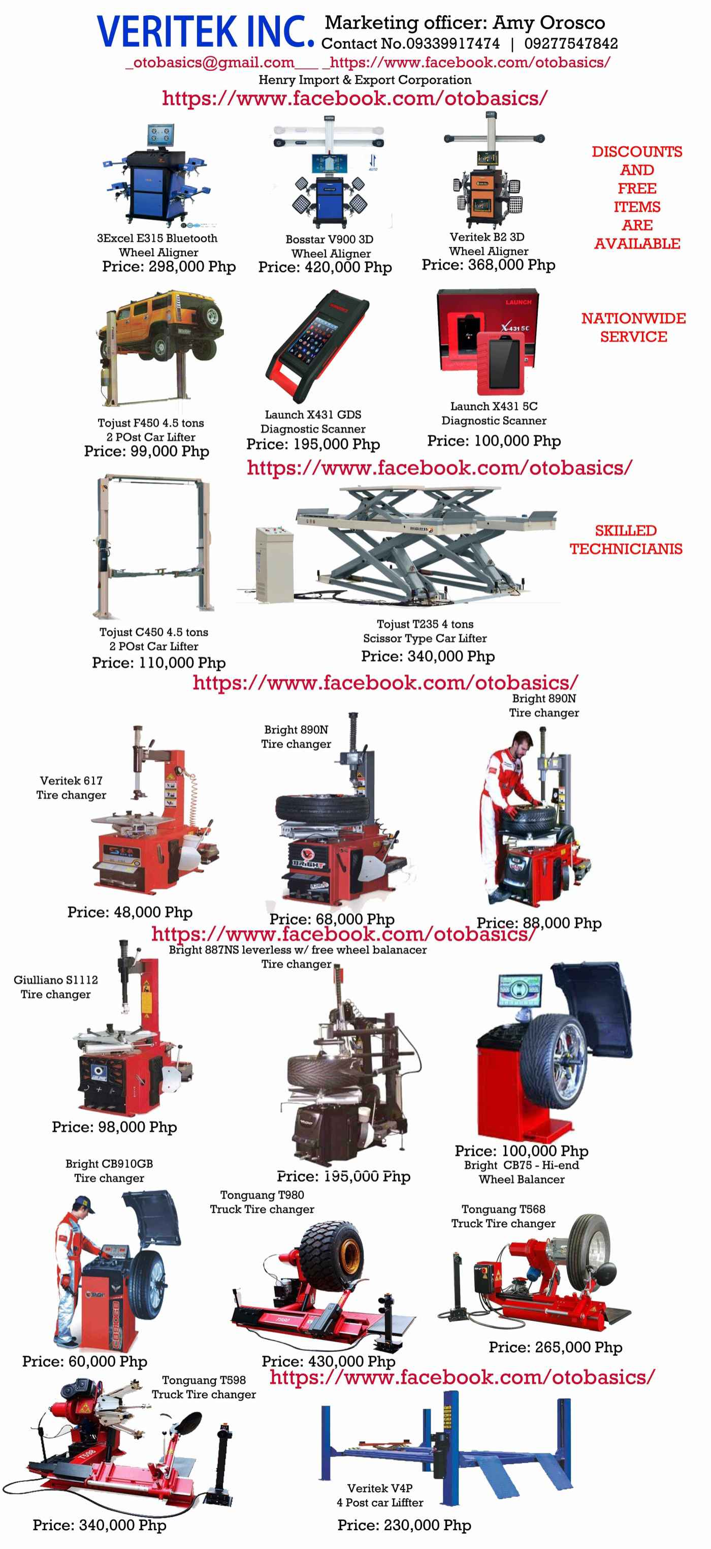 hight resolution of for sale automotive equipment in philippines with price