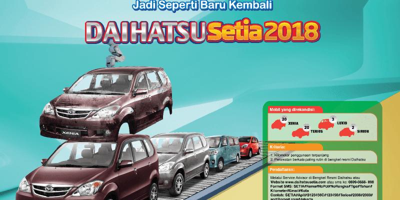 Daihatsu Serahkan 3 Unit Rekondisi Pelanggan Setianya