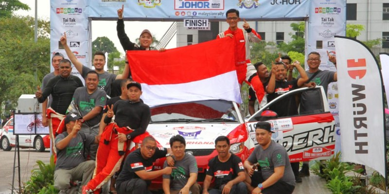 Pereli Indonesia Kuasai Podium International Rally of Johor 2018