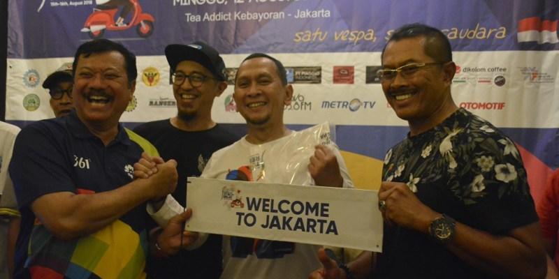 Komunitas Vespa Jakarta Siap Kawal Obor Asian Games 2018