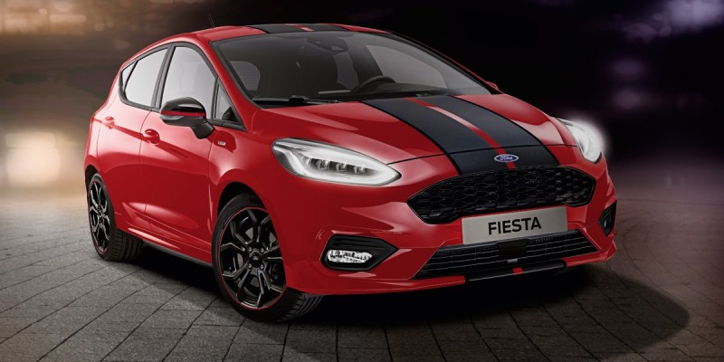 New Ford Fiesta ST-Line Red and Black Editions