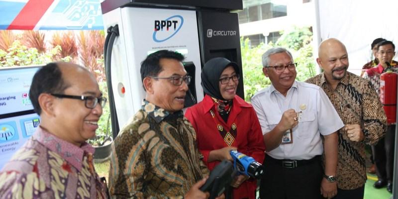 BPPT RI Resmikan Stasiun Pengisian Daya Kendaraan Listrik