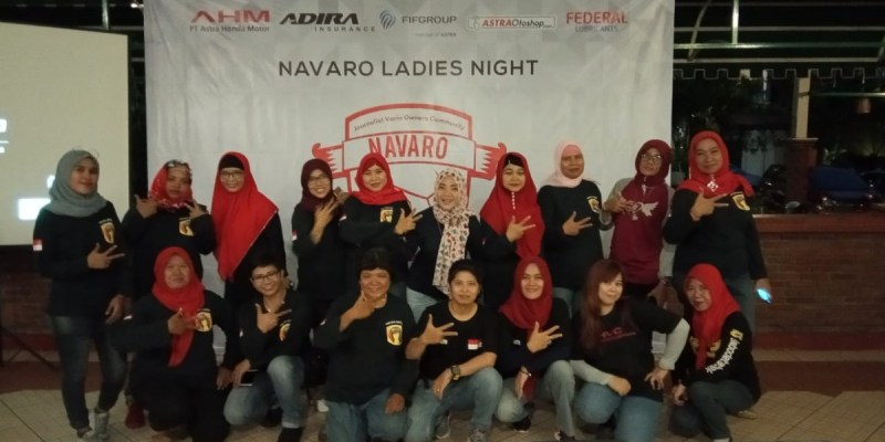 NAVARO Gelar 'Ladies Night' Bersama Bikers