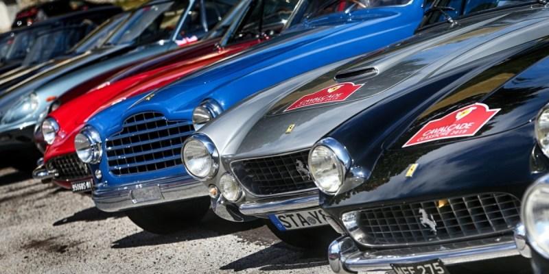 80 Vintage Ferrari Ikuti Cavalcade Classiche