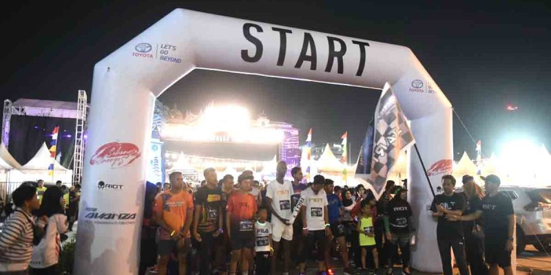 500 Peserta Ikuti 'Night Run' Bersama PT TAM