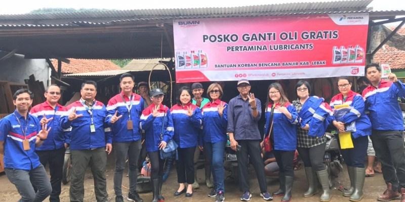 Pertamina Lubricants Salurkan Bantuan Korban Banjir Lebak Banten