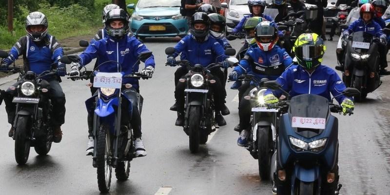 Keseruan Valentino Rossi dan Maverick Vinales di Indonesia