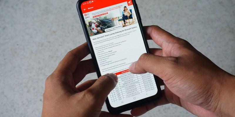 Unduh Aplikasi Ini, Bisa Servis Sepeda Motor Honda di Rumah