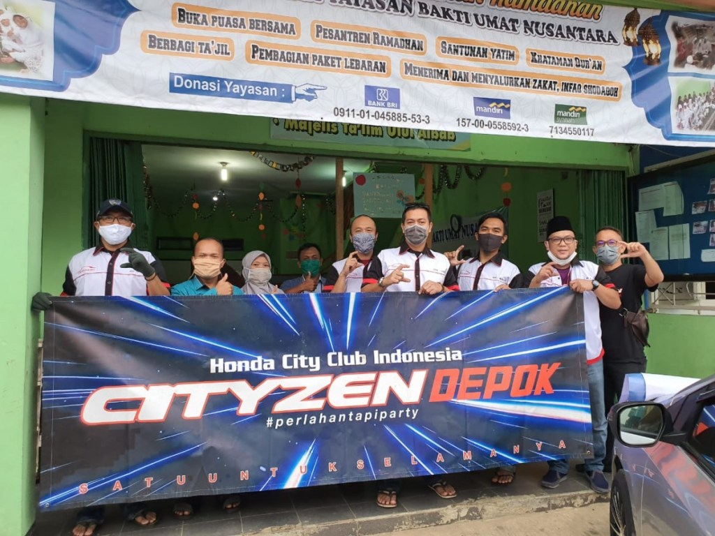 Para Komunitas Honda Berbagi APD Dan Lakukan Bansos Pasca Covid-19