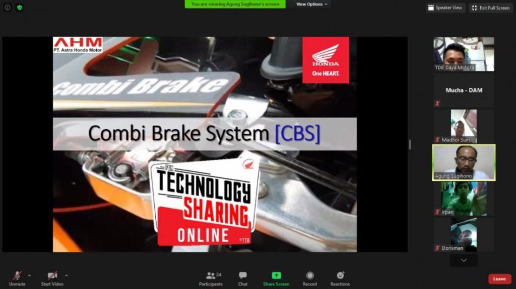 Sharing Ilmu, Komunitas Motor Honda Silaturahmi Secara Virtual