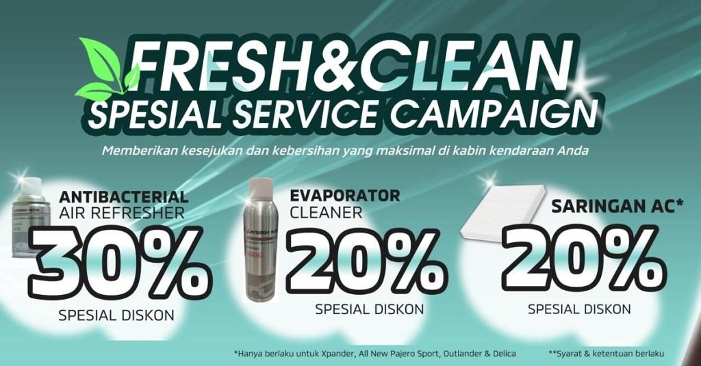 PT MMKSI Berikan Diskon di Program 'Fresh&Clean Service Campaign'
