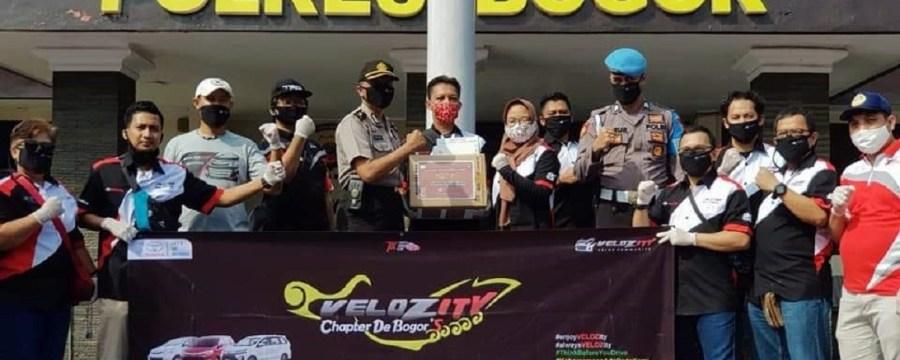 Hari Lahir Pancasila, Velozity DeBogors Kunjungi Polres Bogor