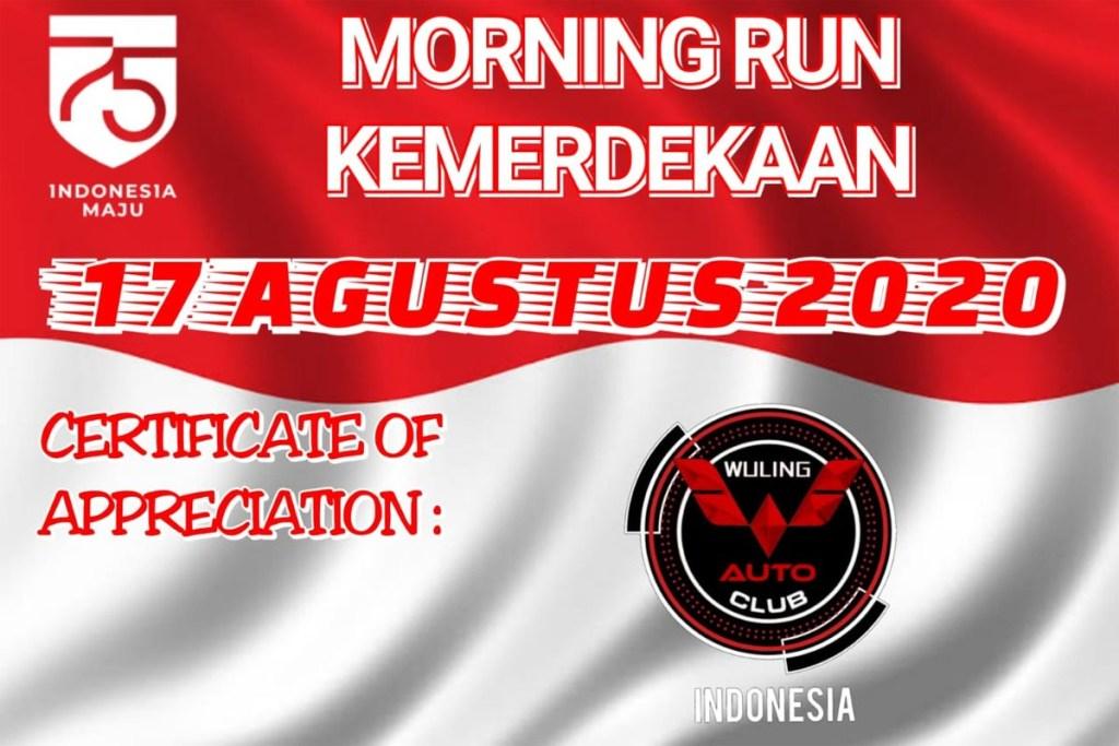 Peringati HUT RI ke-75, WACI Ramaikan 'Morning Run Kemerdekaan'