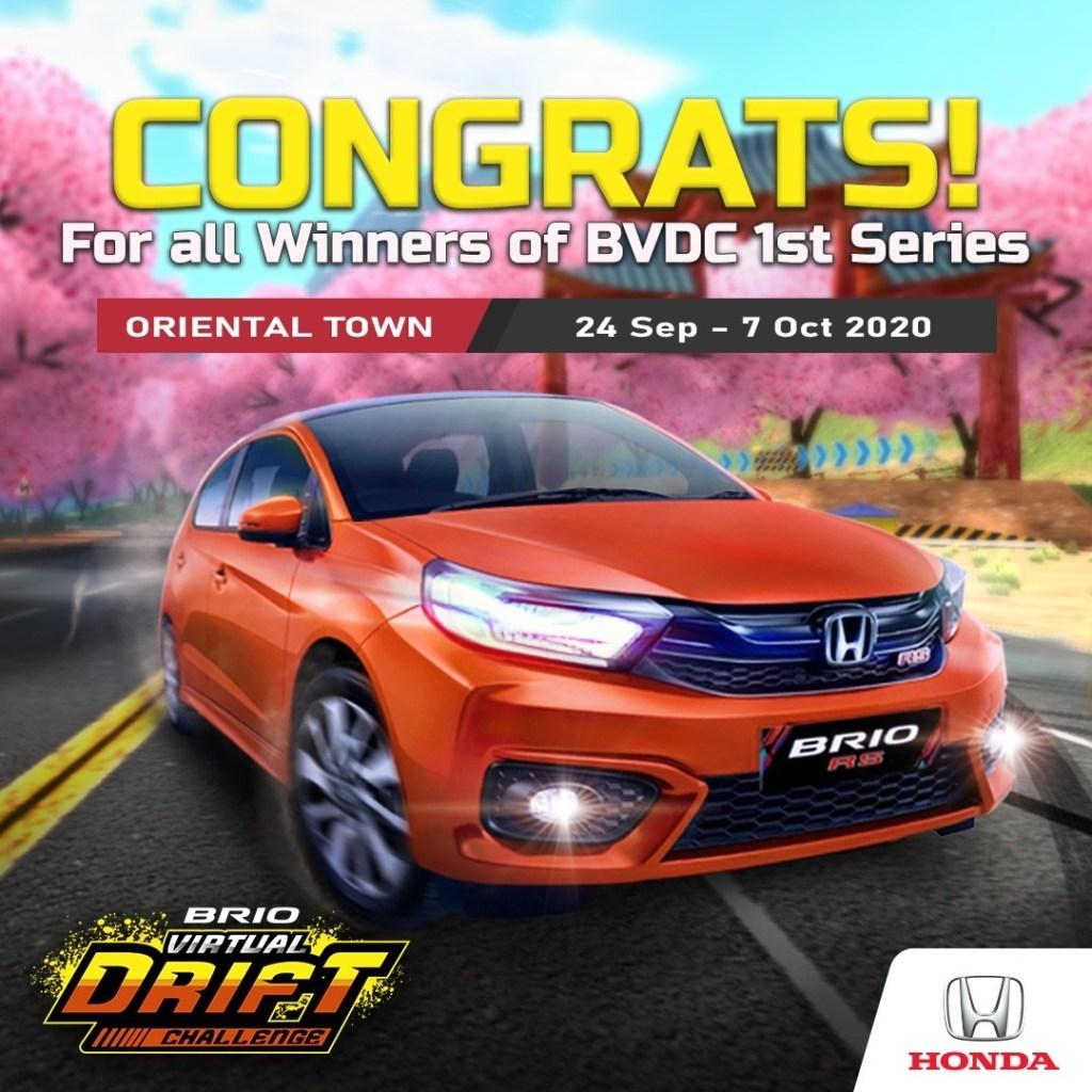 Inilah Para Pemenang Brio Virtual Drift Challenge Seri Pertama
