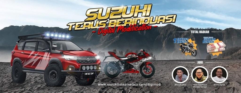 Suzuki Gelar Kontes Modifikasi Digital, 'Suzuki Terus Berinovasi'
