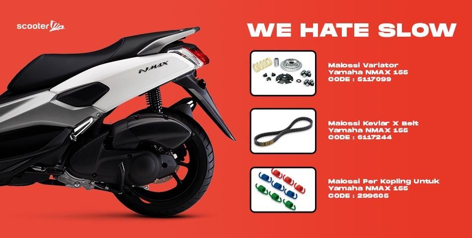 Upgrade Yamaha Nmax Pakai Polini dan Malossi, Ini Pilihannya