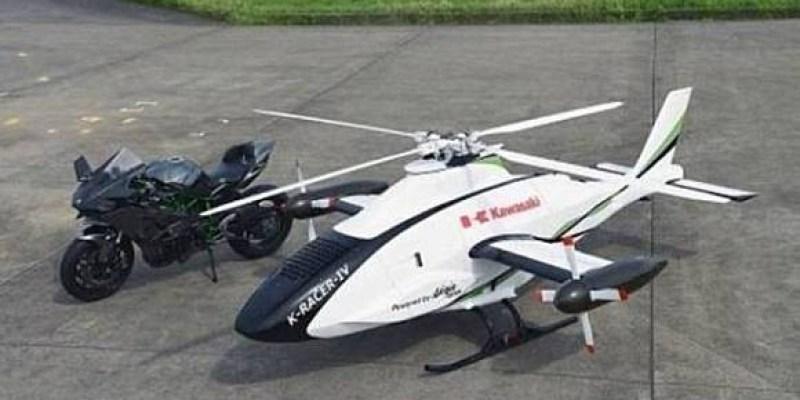 Kawasaki Bikin Helikopter Menggunakan Mesin Ninja H2R