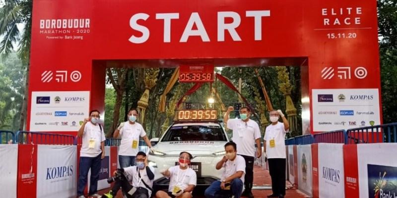 Hyundai Kona Electric Jadi Mobil Resmi Borobudur Marathon Elite Race 2020