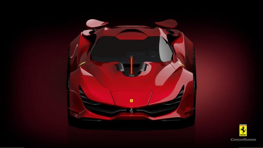 Ferrari CascoRosso Konsep, Imajinasi Segar Untuk Kuda Jingkrak Maranello