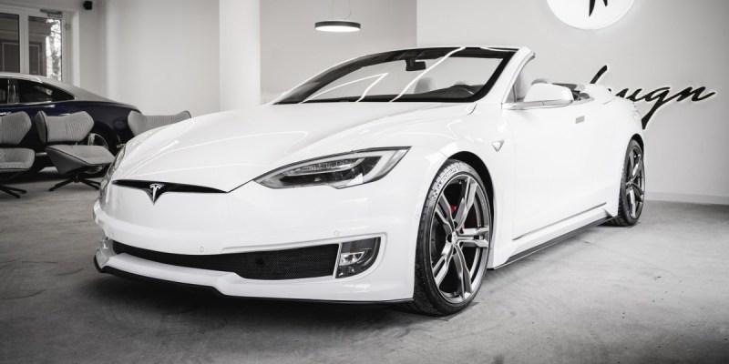 Tesla Model S Ini Tampil Convertibel Lewat Ide Modifikasi ARES Design