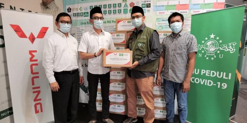 Wuling Donasikan 25.000 Masker Kepada Satgas NU Peduli Covid-19